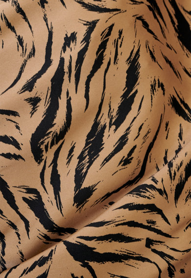 BADEN 11 Rochie din viscoza cu imprimeu si terminatie asimetrica Femei