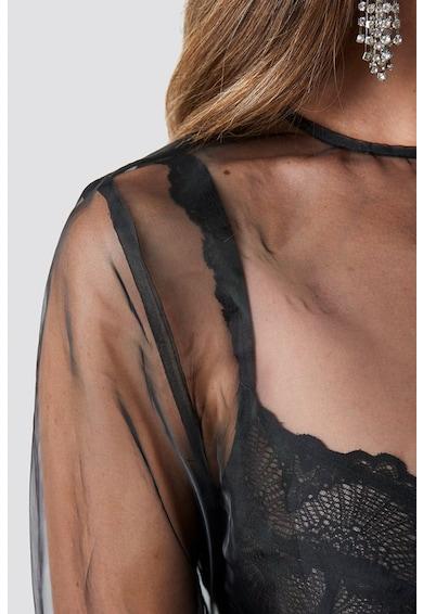 NA-KD Bluza de plasa cu maneci bufante Femei