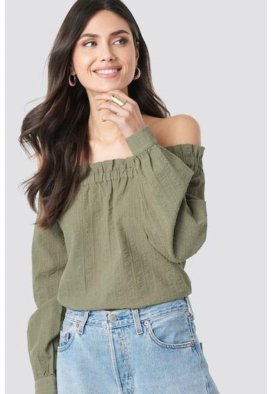 NA-KD Bluza cu decolteu pe umeri si aspect texturat Femei