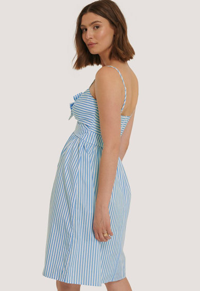 NA-KD Csíkos ruha masnival az elején női