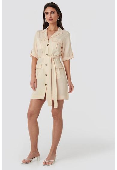 NA-KD Rochie tip camasa mini, cu buzunare aplicate Femei