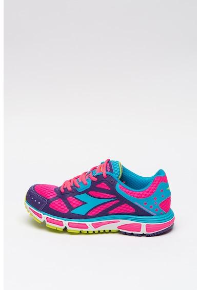 Diadora Pantofi de plasa cu model colorblock, pentru alergare Femei