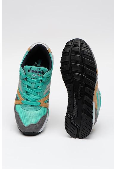 Diadora NYL II colorblock dizájnú sneaker nyersbőr részletekkel női