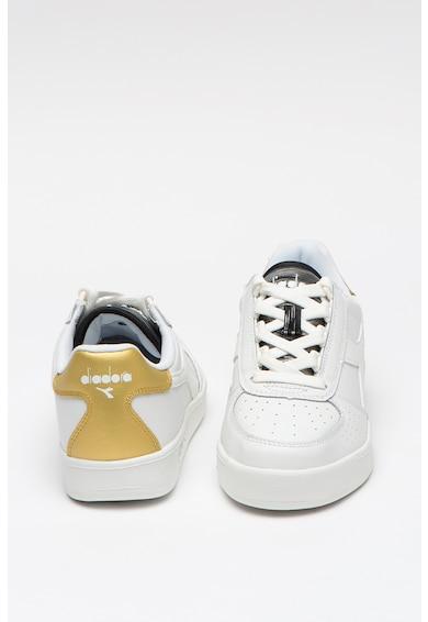 Diadora Pantofi sport de piele ecologica, cu insertii din piele peliculizata Elite Femei