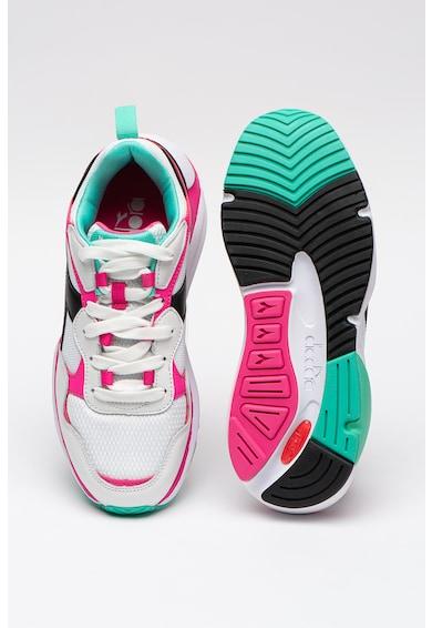 Diadora Pantofi sport din piele cu insertii din plasa Whizz Run Femei