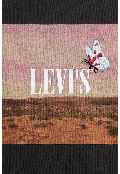 Levi's Top crop cu imprimeu logo si grafic Femei