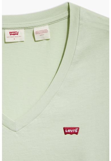 Levi's Tricou cu decolteu in V si logo pe piept Femei