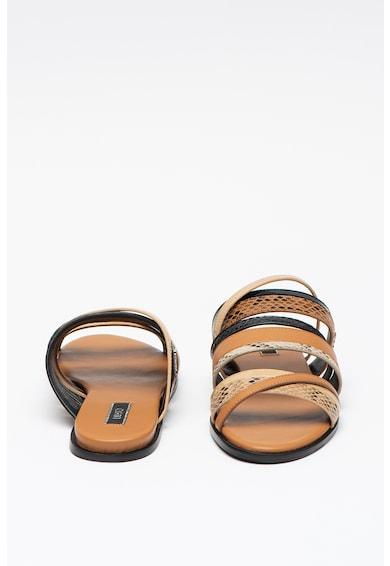 Liu Jo Papuci de piele ecologica cu insertii cu model piele de sarpe Thea Femei