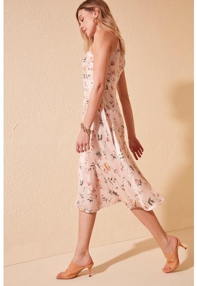 Trendyol Rochie din material satinat, cu model floral Femei