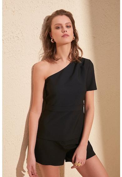 Trendyol Bluza cu decolteu pe un umar si detaliu drapat Femei