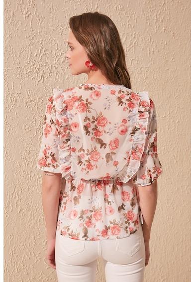Trendyol Bluza tip tunica cu model floral Femei