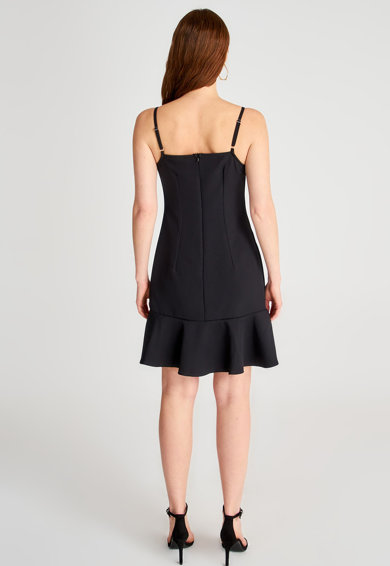 Trendyol Bővülő fazonú ruha fodros alsó szegéllyel női