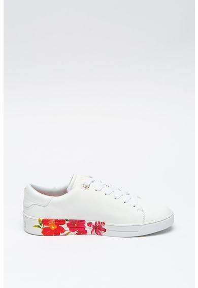 Ted Baker Pantofi sport cu garnituri de piele si motive florale Circee Femei