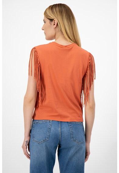 Only Organikuspamut póló rojtos részletekkel női