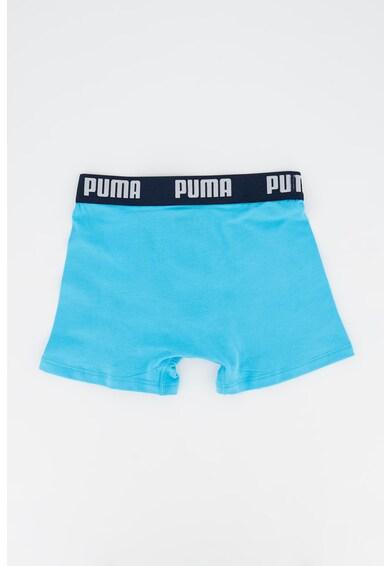 Puma Set de boxeri cu banda logo in talie, 2 perechi, Bleumarin/Albastru aqua Baieti