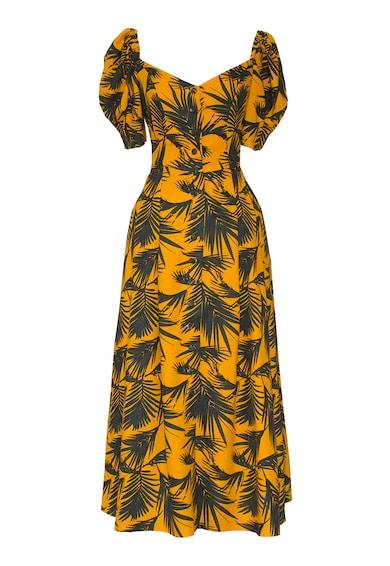 Alina Cernatescu Trópusi mintájú lentartalmú ruha női