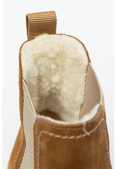 Gant Ghete Chelsea de piele intoarsa cu captuseala de lana Femei