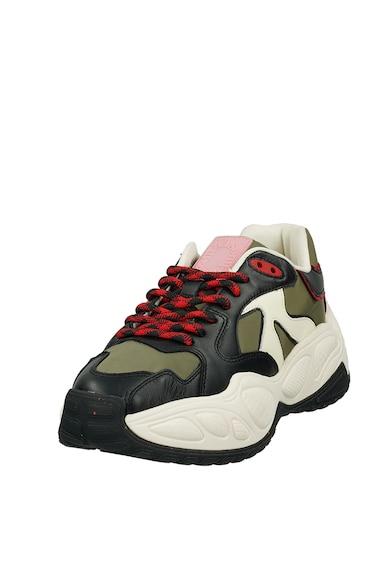Scotch & Soda Pantofi sport din piele si plasa cu model colorblock Femei