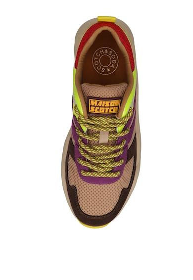 Scotch & Soda Pantofi sport din piele intoarsa si plasa cu model colorblock Femei