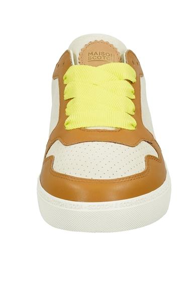 Scotch & Soda Pantofi sport din piele si piele intoarsa cu detalii perforate Femei