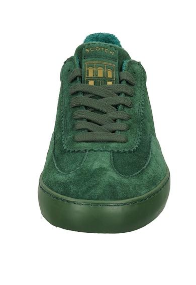 Scotch & Soda Pantofi sport din piele intoarsa cu terminatii valurite Barbati