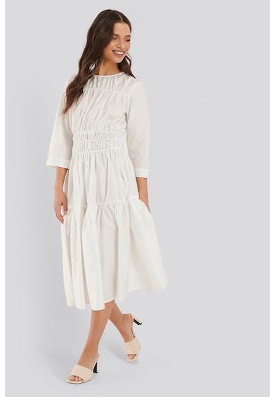 NA-KD Bővülő alsó szegélyű ruha húzott rugalmas derékrésszel női