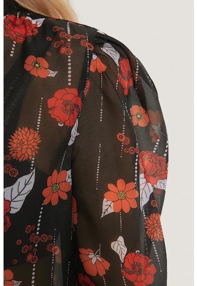 NA-KD Rochie transparenta cu imprimeu floral Femei
