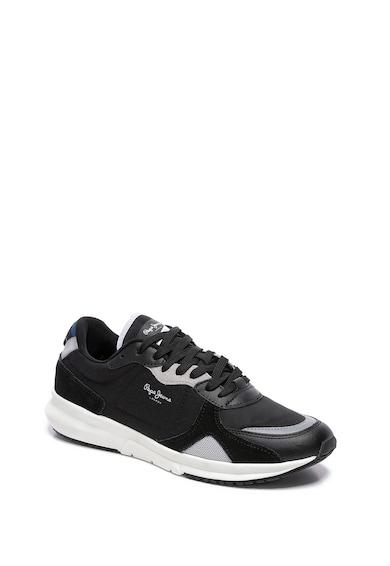 Pepe Jeans London Pantofi sport cu detalii din piele Barbati
