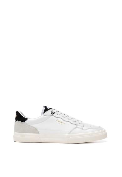 Pepe Jeans London Pantofi sport din piele si piele ecologica cu garnituri din piele intoarsa Barbati