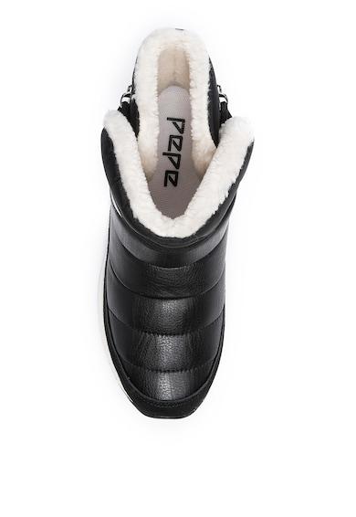 Pepe Jeans London Cizme de iarna cu garnituri de piele intoarsa Dean Femei