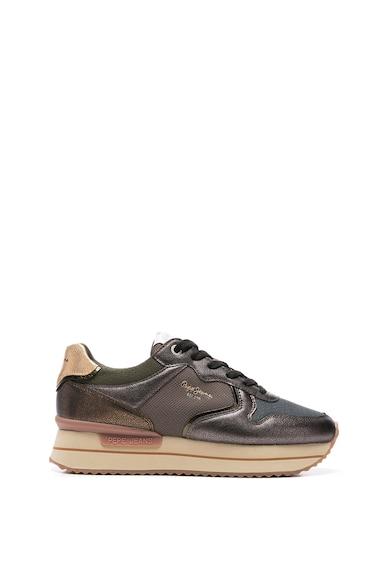 Pepe Jeans London Pantofi sport din piele ecologica cu insertii din plasa Femei