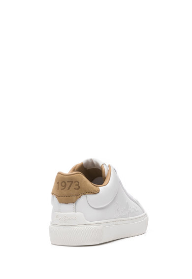 Pepe Jeans London Pantofi sport din piele peliculizata cu logo in relief Femei