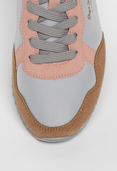 Pepe Jeans London Colorblock dizájnú sneaker logóval női