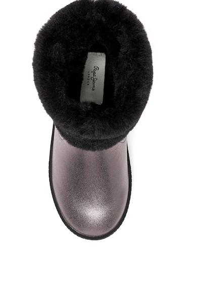 Pepe Jeans London Cizme de piele ecologica cu blana sintetica Fete