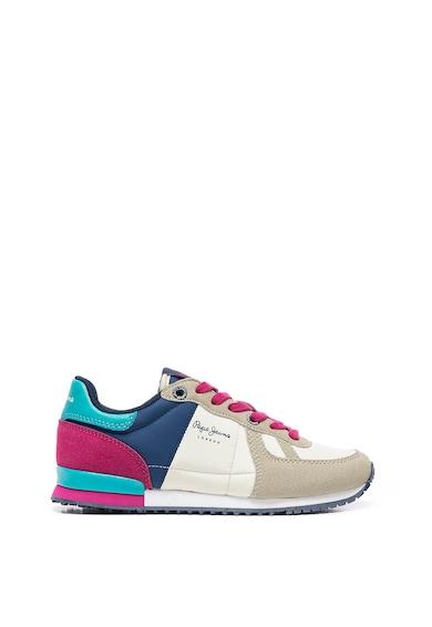 Pepe Jeans London Pantofi sport cu insertii de piele intoarsa sintetica Fete