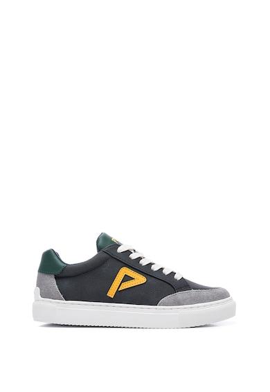 Pepe Jeans London Pantofi sport de piele ecologica cu detaliu logo Baieti