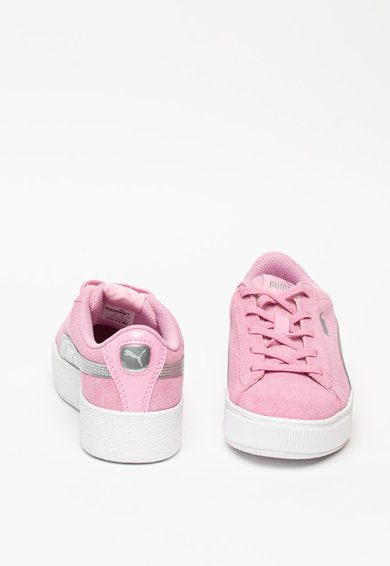 Puma Pantofi sport flatform cu insertii de piele Vikky Fete
