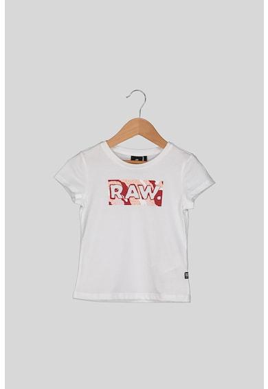 G-Star RAW Logómintás pamutpóló Lány