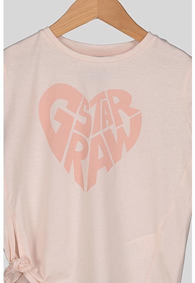 G-Star RAW Logós póló csomózott részlettel Lány