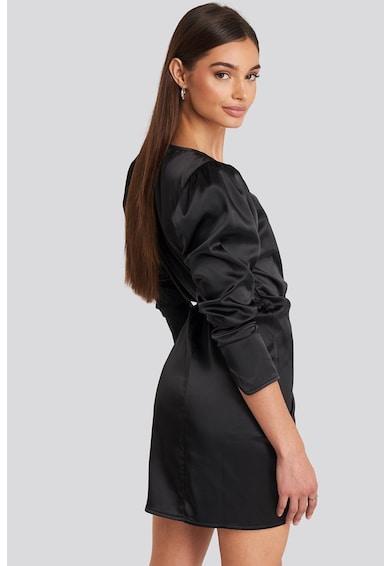 NA-KD Átlapolós miniruha szaténhatással 4 női