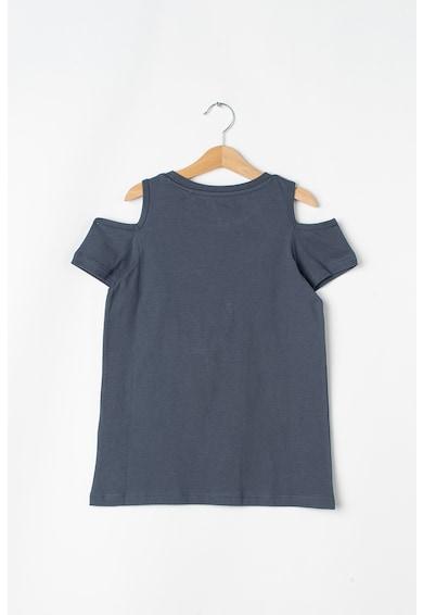 Esprit Kivágott vállú póló kétoldalú flitterekkel Lány