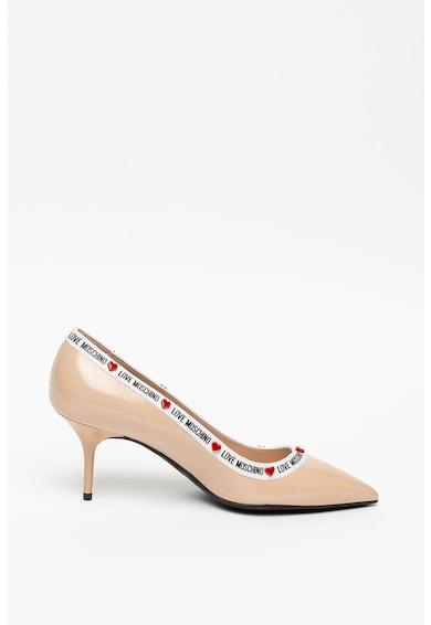 Love Moschino Pantofi cu varf ascutit si logo Vernice Femei