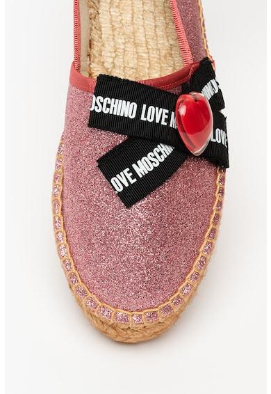 Love Moschino Espadrile stralucitoare cu funda Femei