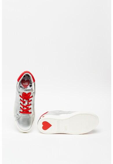 Love Moschino Pantofi sport cu insertii de piele Femei