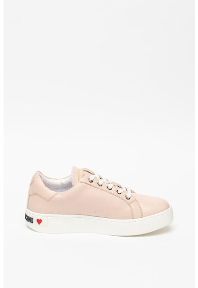 Love Moschino Sneaker bőrbetétekkel női