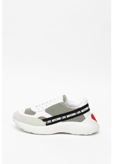 Love Moschino Pantofi sport cu insertii de piele intoarsa Femei