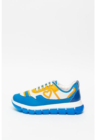 Love Moschino Pantofi sport de piele ecologica cu insertii de plasa Femei