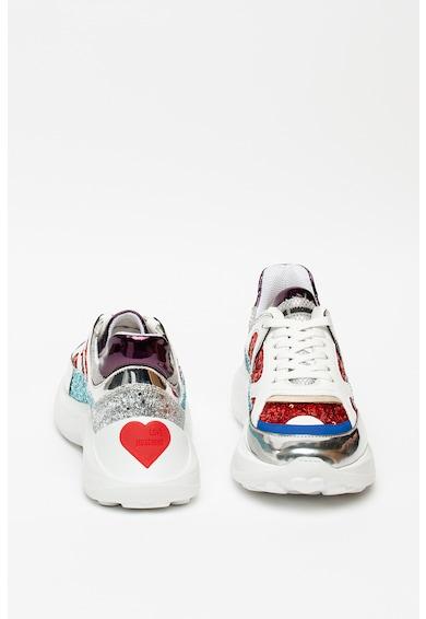 Love Moschino Sneaker flitteres rátétekkel női