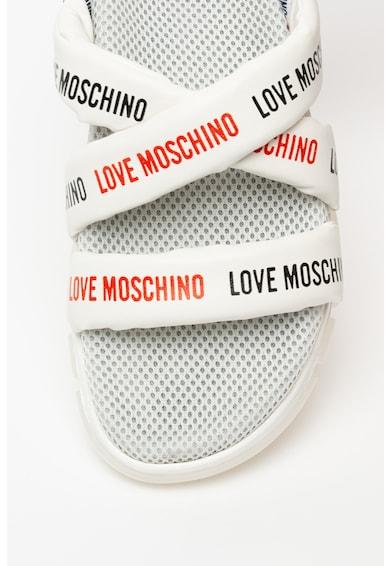 Love Moschino Logómintás műbőr szandál női