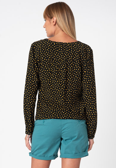 Esprit Bluza vaporoasa tip tunica cu model abstract Femei